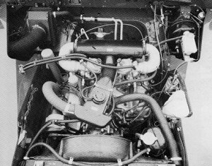 Stage One Engine compartment and 3.5l V8