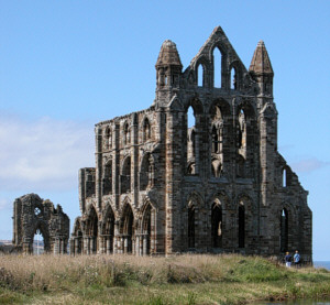 Whitby Abbey: Founded after Oswy's victory at Winwaed