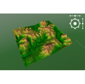 3d Maptitude Plot (North Wales Topography)
