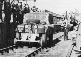 Rail rover being demonstrated