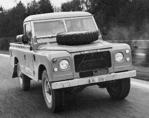 V8-powered Stage One Land Rover: Note front grille