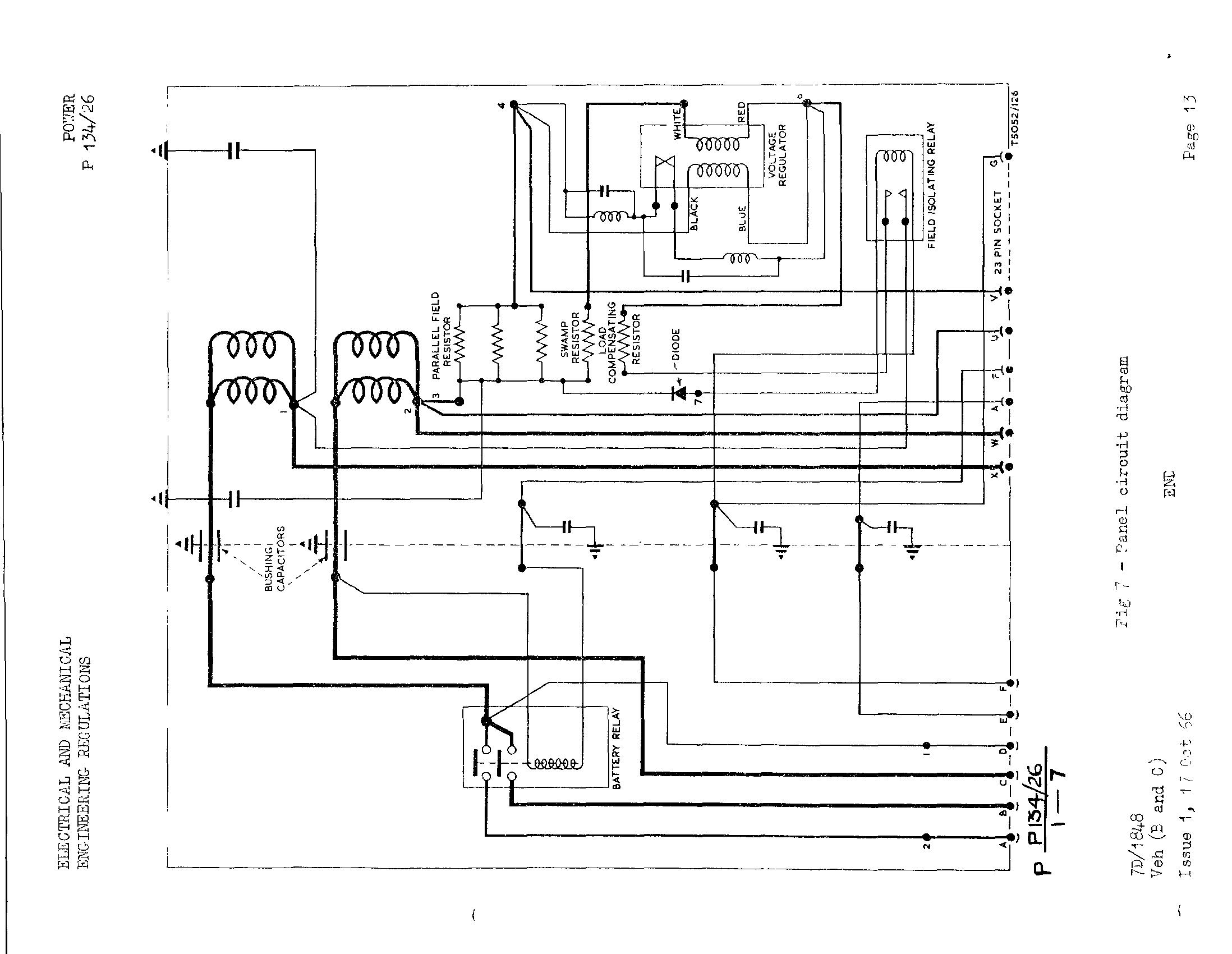 Land Rovers Military Specifics Ac Voltage Generator Wiring Diagram These Are Panel No 9 Mk 2 From Emer Power W 134 26